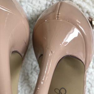 Jessica Simpson Shoes - Jessica Simpson Nude Patent Leather Heel